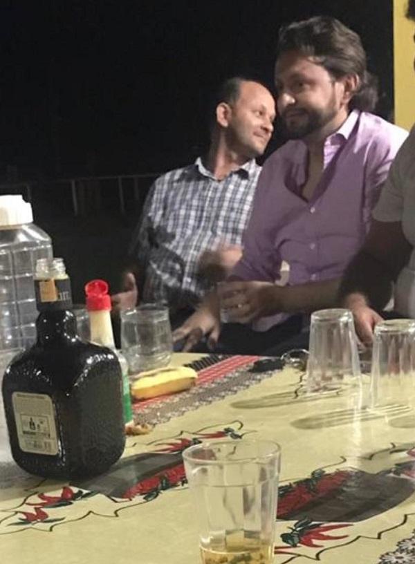 Pacovan e o deputado Leonardo Sá