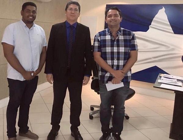 Prefeito Negão, secretário Jefferson Portela e o deputado federal Júnior Lourenço