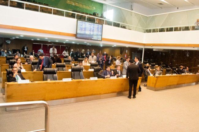 Assembleia Legislativa do Maranhão durante sessão nesta terça-feira (3)
