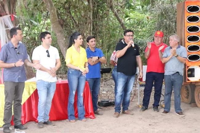 Pré-candidato Maurício Melo discursando