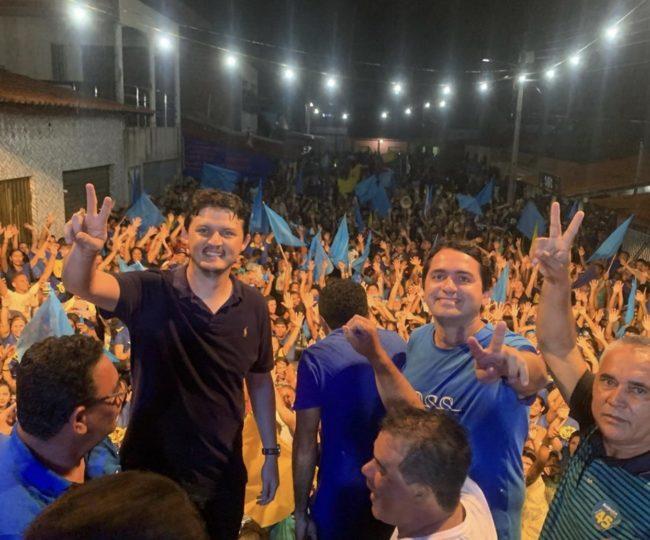 Deputado Júnior Lourenço ao lado do pré-candidato Augusto em Bela Vista