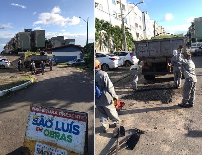 Prefeitura de São Luís asfalta rua de condomínio que Márcio Jerry morou