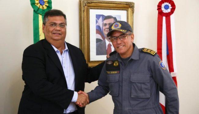 Flávio Dino e o coronel Pedro Ribeiro