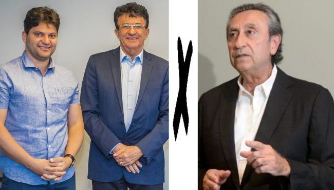 Prefeito Francisco Nagib e o pai Francisco Carlos de Oliveira em embate no comércio com Ricardo Murad