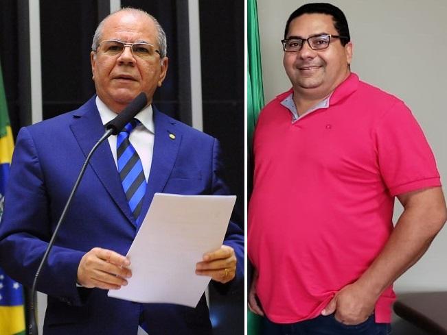 Deputado federal Hildo Rocha e o prefeito Moises Ventura