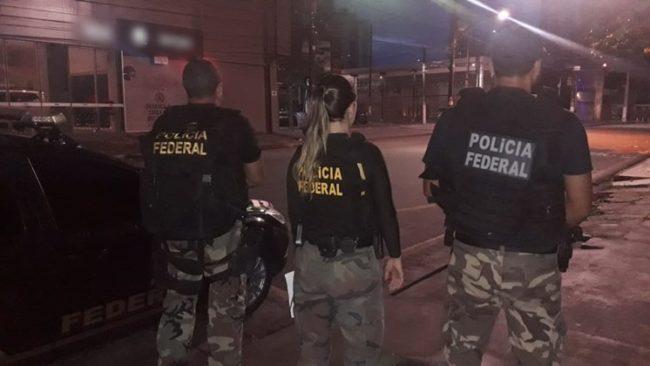 Federais durante a Operação Canafístula