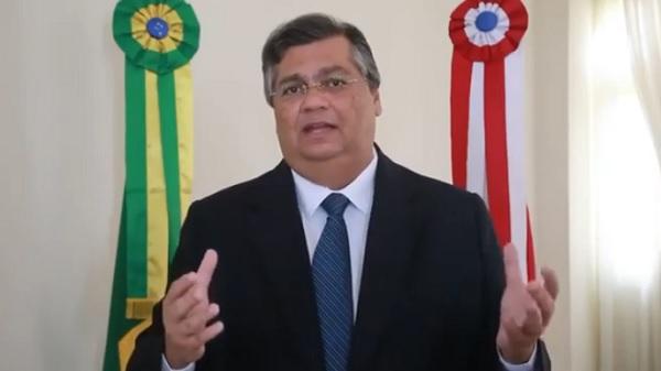 Governador Flávio Dino em pronunciamento hoje (6) no Palácio dos Leões