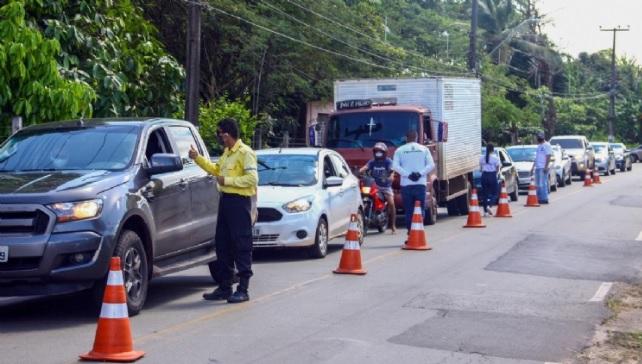 Fiscalização permanecerá para evitar a circulação de pessoas durante o isolamento obrigatório