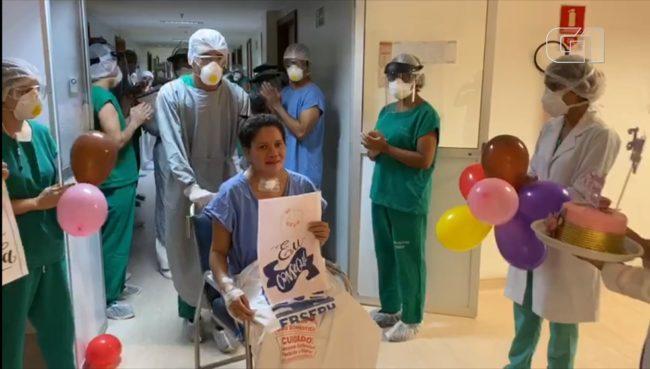 Jociele Serra Pinheiro, de 38 anos, foi a primeira paciente a ser internada na UTI de Covid-19 do Hospital Universitário em São Luís