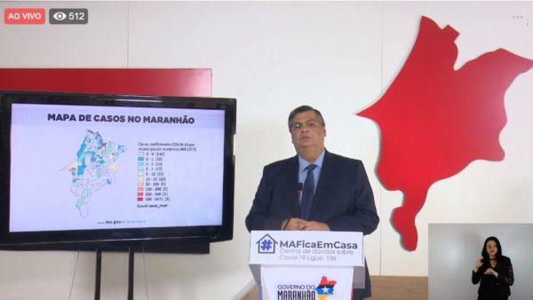 O governador do Maranhão, Flávio Dino (PcdoB), deu uma entrevista coletiva nesta sexta-feira (1º)