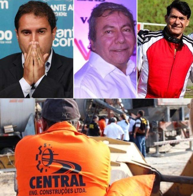 Prefeito Edivaldo Holanda Júnior, marqueteiro Evilson Almeida e o empresário José Lauro