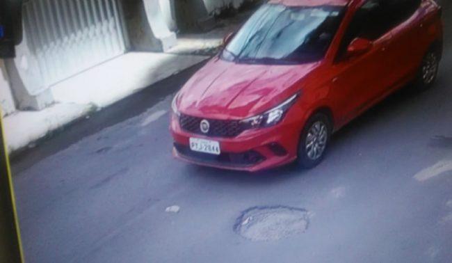 Imagem do carro em que o autor do homicídio estava