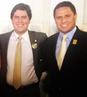 Deputado André Fufuca ao lado do advogado Diego Fernando