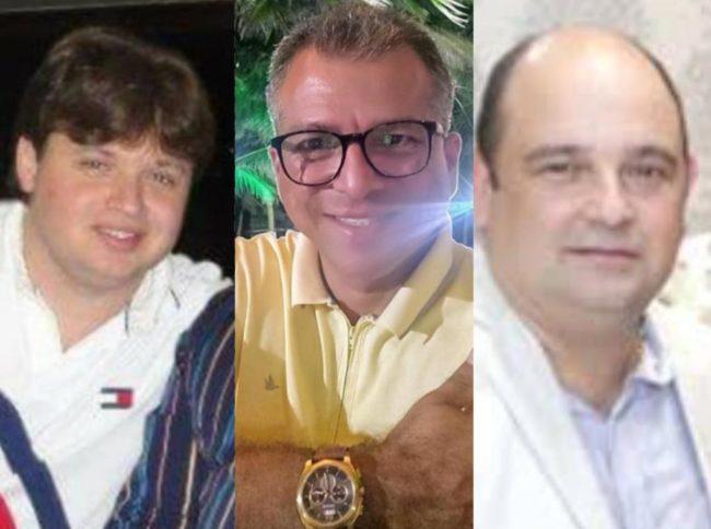 Empresários Alexandre Chuairy Cunha, Sormane Silva Santana e João de Deus Souza Lima Júnior