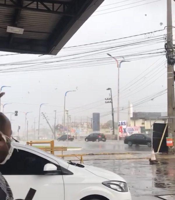 Início de tornado é registrado em São Luís