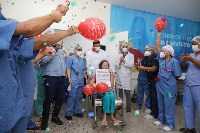 Paciente Celma Rodrigues vence coronavírus no Maranhão