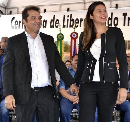 Casal de prefeitos Hilton Gonçalo (Santa Rita) e Fernanda Gonçalo (Bacabeira)