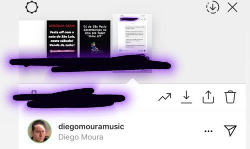 Dj Diego Moura visualizou os Store do jornalista Luís Pablo