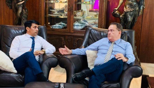 Deputado Wellington do Curso e o senador Roberto Rocha