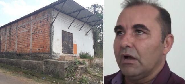 Suposta sede da empresa Andrade Variedades contratada pelo prefeito Sidney Pereira