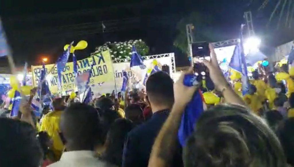 Evento eleitoreiro promovido por Detinha