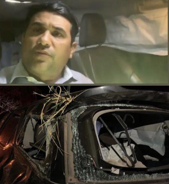 Wellington do Curso fala de dentro do carro que sofreu acidente