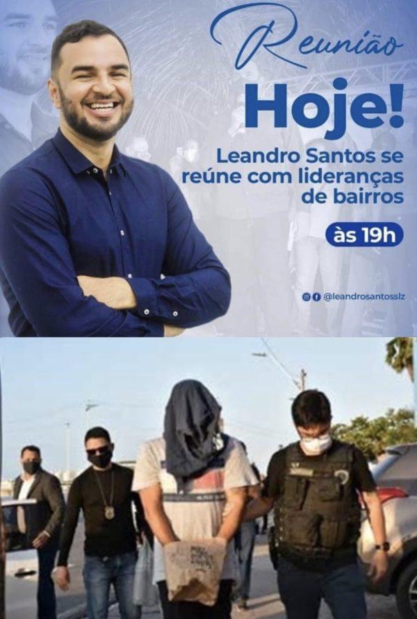 Suspeito Leandro Silva é membro do partido de Josimar de Maranhãozinho em São Luís-MA