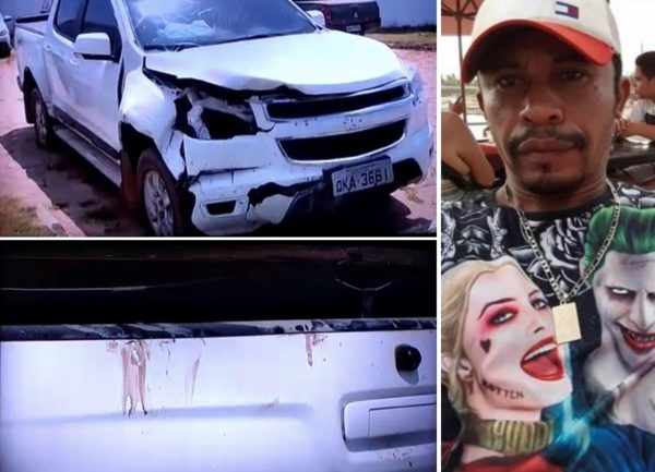 Carro com marcas de sangue de Antonio Coveiro