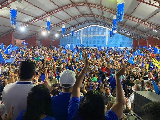 Grande número de eleitores na convenção de Fufuca em Alto Alegre do Pindaré
