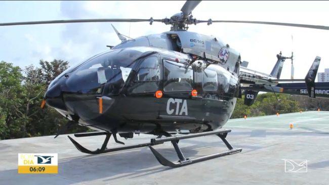 Helicóptero da polícia do Maranhão está parado há 2 anos