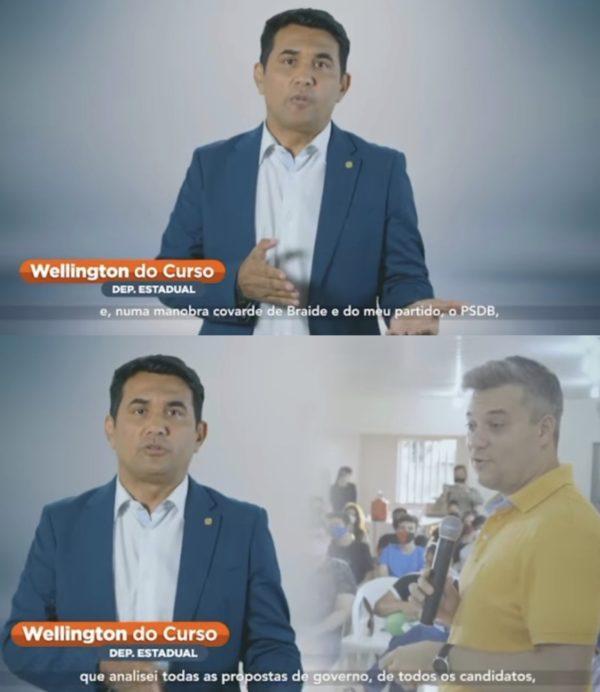 Wellington do Curso fala mal de Eduardo Braide em rede social