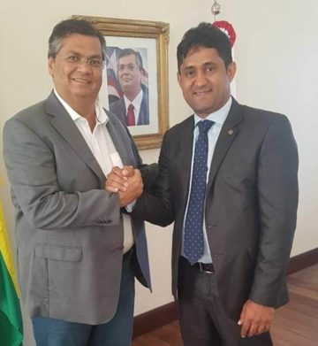 Governador Flávio Dino e o deputado Toca Serra