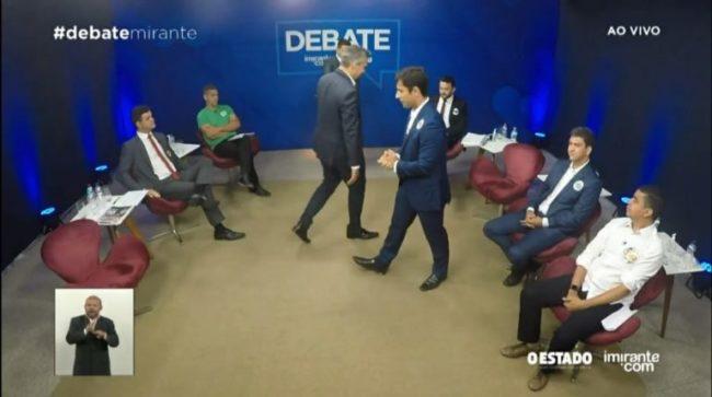 Neto e Duarte se confrontam em debate