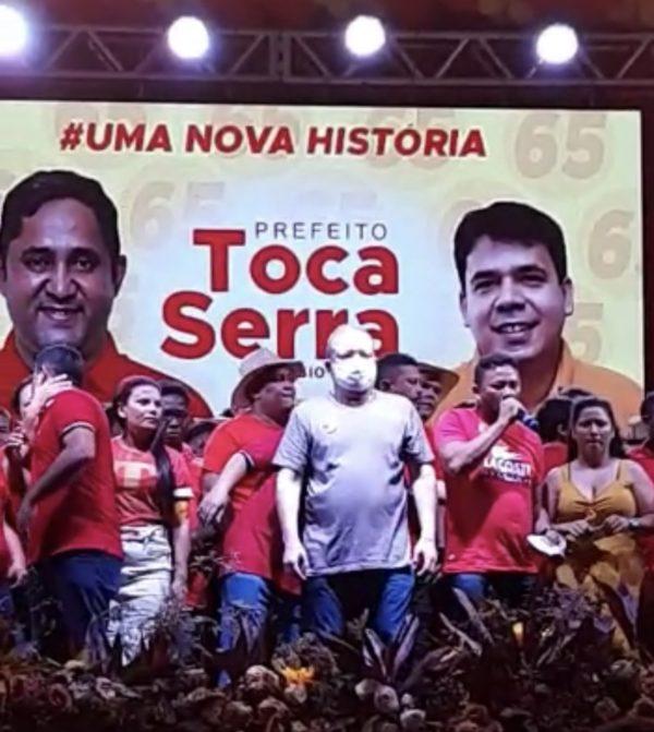 Palanque do comício de Toca Serra com a presença de Othelino Neto