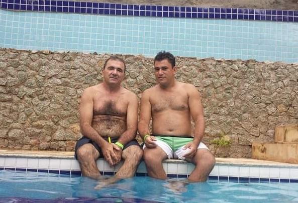 Prefeito Raimundo Antonio e o filho Israel Fonseca