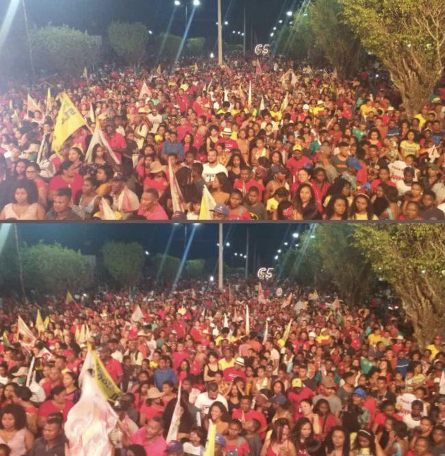 Multidão em evento político de Toca Serra em Pedro do Rosário-MA