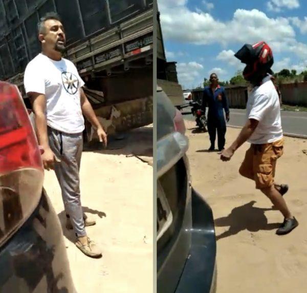 Advogado Odon Júnior e o ameaçador Reinaldo Araújo