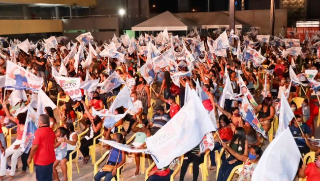 Eleitores abraçam a candidatura de Pinto Itamaraty
