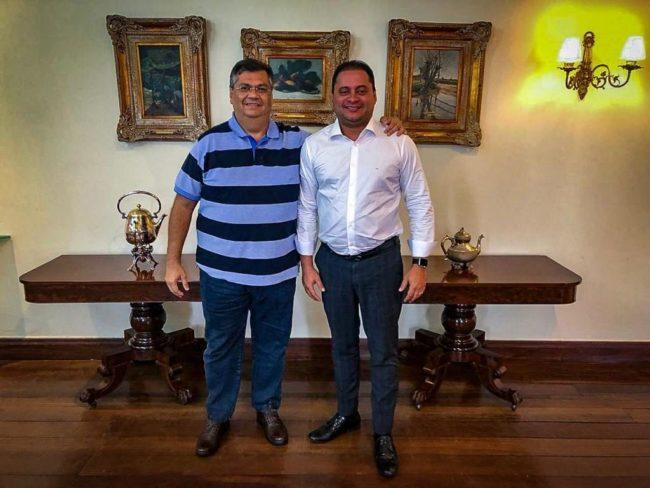 Flávio Dino e Weverton Rocha no Palácio dos Leões