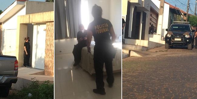 Agentes federais na casa do prefeito de Buriti Bravo