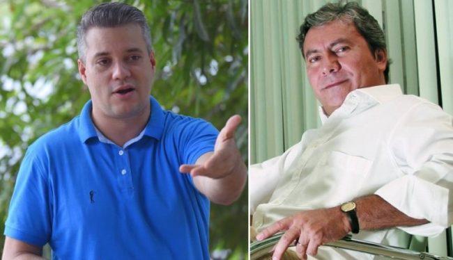 Candidato Neto Evangelista e o seu marqueteiro Evilson Almeida