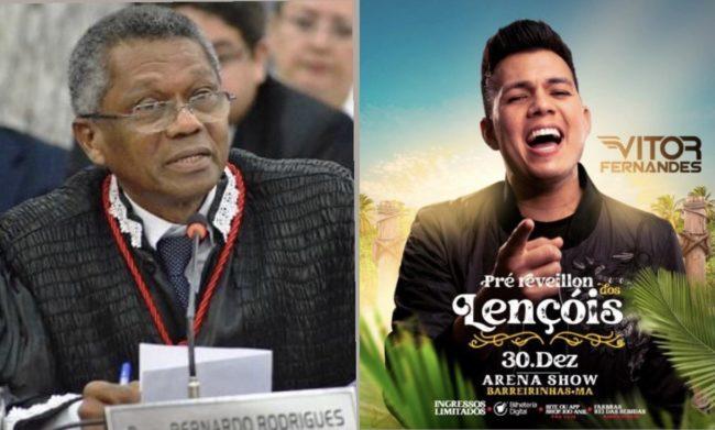 Desembargador José Bernardo Silva Rodrigues liberou show em Barreirinhas em plena pandemia