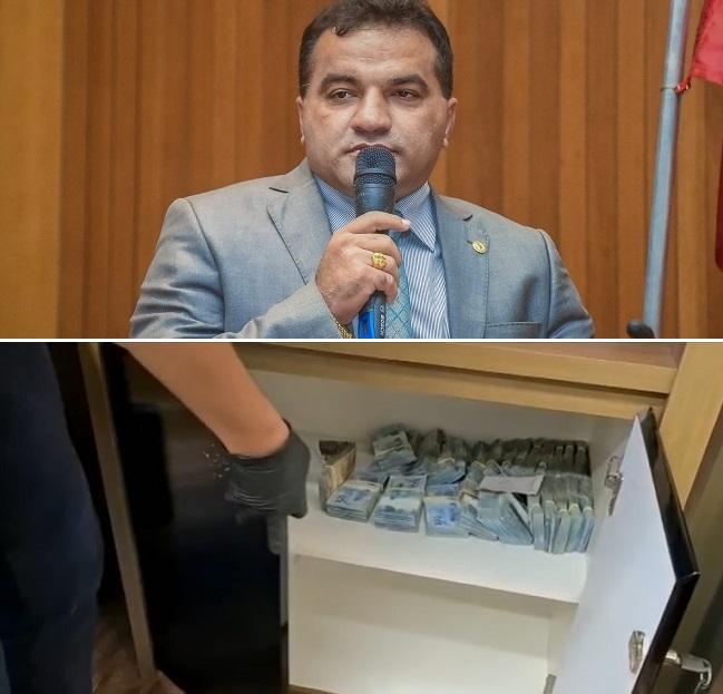 Dinheiro encontrado no escritório de Josimar de Maranhãozinho