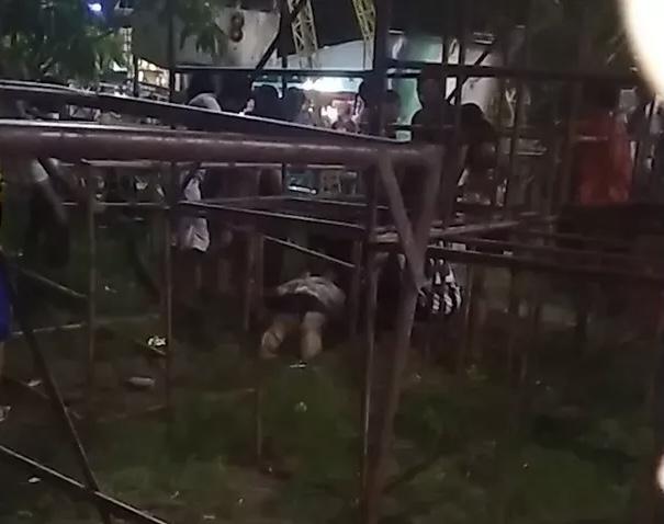 Três pessoas ficam feridas após caírem de roda gigante em São Luís