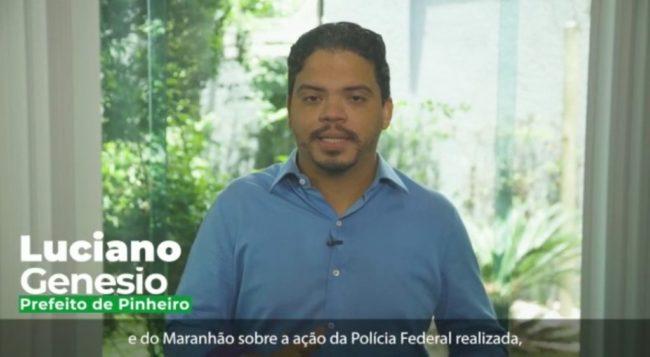 Prefeito Luciano Genesio fala sobre a Operação da PF em Pinheiro-MA