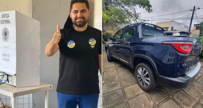 Carro roubado no estado de Pernambuco é encontrdo com vereador Thyago Freitas, em São Luís-MA