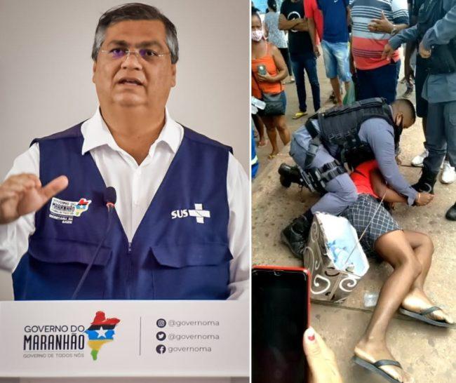 Governador Flávio Dino precisa tomar as medidas contra ato de truculência da PM com trabalhador