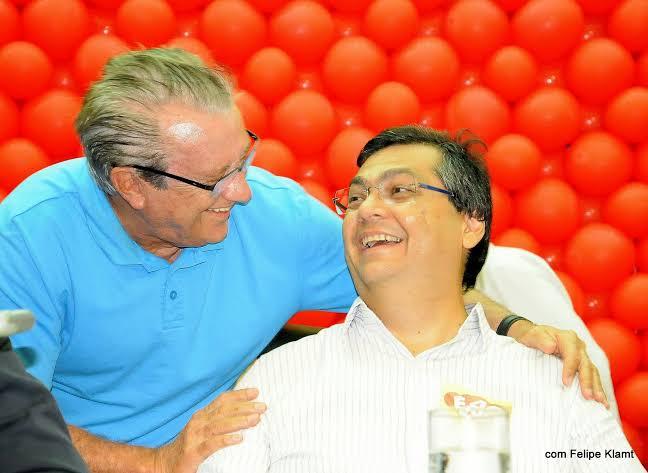 Ex-governador Zé Reinaldo Tavares ao lado do governador Flávio Dino