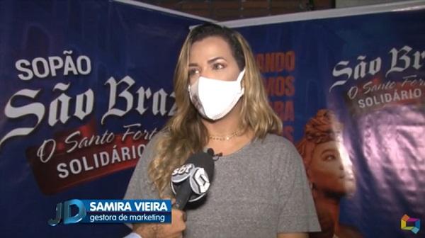 Gestora de marketing da empresa São Braz, Samira Vieira, em entrevista a TV Difusora
