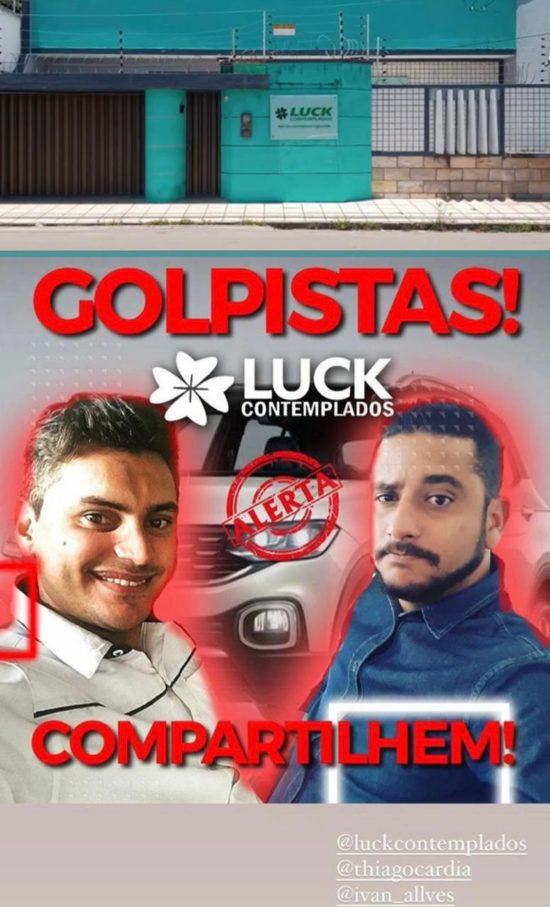 Ivan Alves da Silva Júnior (dono da empresa) e Thiago Fernandes Cárdia (vendedor)
